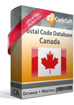Canada Postal Code Tools ZIPCodeSoft