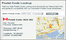 how to write postal code address in canada